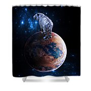 Heaven Help Us All Shower Curtain