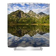 Heaven Unfolded Shower Curtain by Mike  Dawson