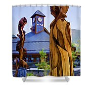 Heavenly Carvings Shower Curtain