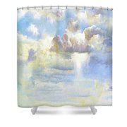 Heavenly Clouded Beautiful Sky Shower Curtain