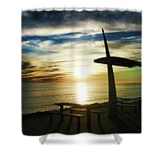 Heavenly Dinner Table Shower Curtain
