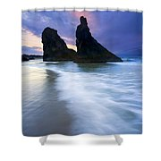 Heavenly Halo Shower Curtain by Mike  Dawson