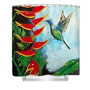 Heavenly Heliconia Shower Curtain