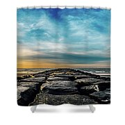 Heavenly Jetty Shower Curtain