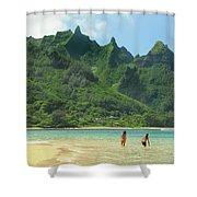Heavenly Kauai Lagoon Shower Curtain
