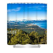Heavenly South Lake Tahoe View 1 - Left Panel Shower Curtain