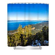 Heavenly South Lake Tahoe View 1 - Right Panel Shower Curtain