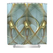Heavenly Wings Of Gold Shower Curtain