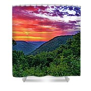 Heaven's Gate - West Virginia - Paint Shower Curtain