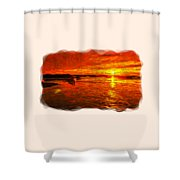 Heavens Of Fire 2 Shower Curtain