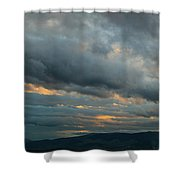 Heavy Clouds Over Mountains Shower Curtain