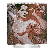 Heavy Crown - Red Shower Curtain