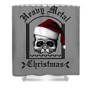 Heavy Metal Christmas Shower Curtain