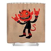 Heavy Metal Devil Shower Curtain by John Schwegel