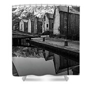 Rochdale Canal, Yorkshire, England Shower Curtain