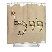 Hebrew Calligraphy- Eyal Shower Curtain