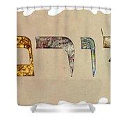 Hebrew Calligraphy- Yoram Shower Curtain