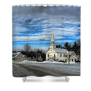 New Snow On Hebron Common Shower Curtain