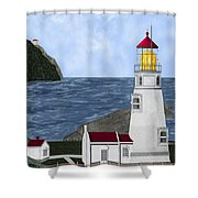 Heceta Head Oregon Shower Curtain