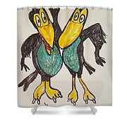 Heckle And Jeckle Shower Curtain
