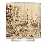 Hedging And Ditching Shower Curtain
