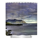 He'eia And Kualoa 2nd Crop Shower Curtain