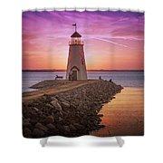 Hefner Lighthouse Shower Curtain