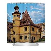 Hegereiterhaus Rothenburg Ob Der Tauber Shower Curtain