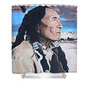 Hehaka Sapa Black Elk Shower Curtain