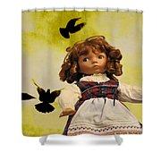 Heidi And The Birds Shower Curtain