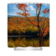 Heights Of Autumn Shower Curtain