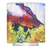 Heights Of Glacier Park Shower Curtain