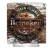 Heineken Beer Wood Sign 1a Shower Curtain