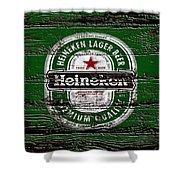 Heineken Beer Wood Sign 2 Shower Curtain