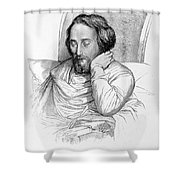 Heinrich Heine, German Writer Shower Curtain