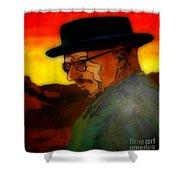 Heisenberg Crystallized Shower Curtain