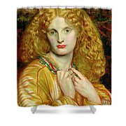 Helen Of Troy Shower Curtain by Dante Charles Gabriel Rossetti