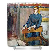 Helene Rouart Shower Curtain by Edgar Degas