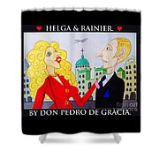 Helga Loves Rainier Shower Curtain