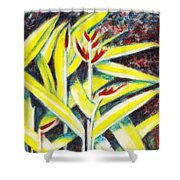 Heliconia 2 Shower Curtain
