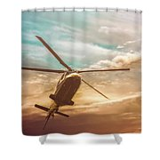 Helicopter Shower Curtain by Bob Orsillo