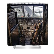 Helicopter Cockpit Shower Curtain