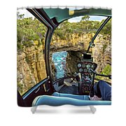 Helicopter On Tasman Arch Shower Curtain
