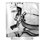 Helicopter Pilot Shower Curtain