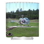 Helicopter Ride South Dakota Shower Curtain