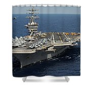 Helicopter's Approaches The Flight Deck Shower Curtain
