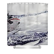 Helihiking In The Canadian Rockies Shower Curtain