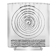 Heliocentric Universe, Copernicus, 1543 Shower Curtain by Science Source