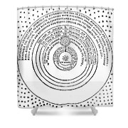 Heliocentric Universe, Thomas Digges Shower Curtain