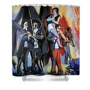 Helion: Paris Riots, 1968 Shower Curtain